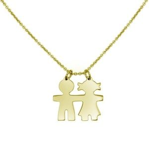 Jewelry - 2pc set Gold Plated Baby Boy & Girl Necklace